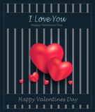 Heart greeting card blue Royalty Free Stock Photo
