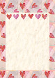 Heart, greeting card for Valentine's Day Royalty Free Stock Photo
