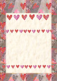 Heart, greeting card for Valentine's Day Royalty Free Stock Image