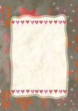 Heart, greeting card for Valentine's Day Stock Image