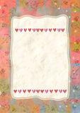 Heart, greeting card for Valentine's Day Royalty Free Stock Images
