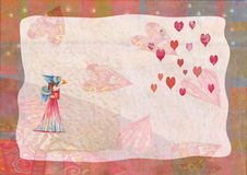 Heart, greeting card for Valentine's Day Stock Photos