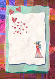 Heart, greeting card for Valentine's Day Royalty Free Stock Photos