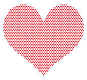 Heart grid pattern Stock Photo