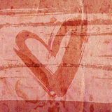 Heart on grunge background Royalty Free Stock Image