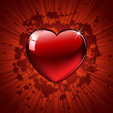 Heart on grunge background Royalty Free Stock Images