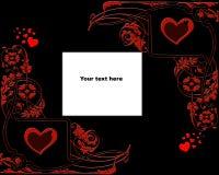 Heart grunge background. With floral design Royalty Free Illustration