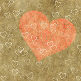 Heart on a grunge background. Love symbol Royalty Free Stock Photography