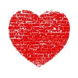 Heart Grunge Brick Stock Photography