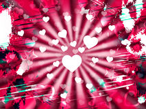 Heart Grunge Means Valentine's Day And Design Royalty Free Stock Photography