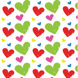 Heart grunge pattern vector Stock Photography