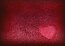 Heart on grungy background Stock Photos