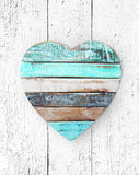 heart on grungy wooden texture Royalty Free Stock Images
