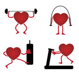 Heart in a gym Royalty Free Stock Photo