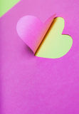 Heart Half-Cut From Pink Paper Stock Images