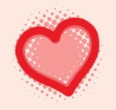 Heart halftone Royalty Free Stock Photography