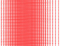 Heart halftone Royalty Free Stock Photos