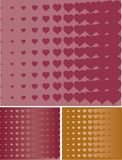 Heart halftone background Stock Photography