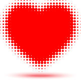 Heart Halftone Effect Stock Image