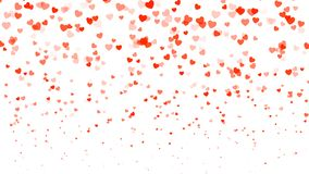 Heart halftone Valentine`s day background. Red hearts on white. Vector illustration.  Royalty Free Stock Photos