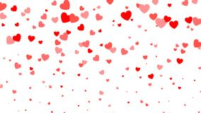 Heart halftone Valentine`s day background. Red hearts on white. Vector illustration.  Royalty Free Stock Photo