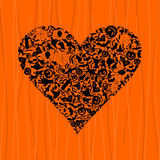 Heart Halloween Royalty Free Stock Photo