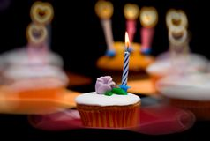 Heart halo cupcake Stock Image