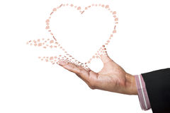 Heart on hand Stock Photography
