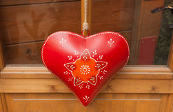 Heart hand decorated in Christmas style. Stock Photography