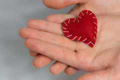 Heart in hand Royalty Free Stock Photography