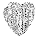 Heart Hand drawn sketched vector illustration. Doodle heart graphic with ornate pattern. Design  on white Stock Photo