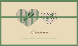 Heart.   Hand drawn valentines day greeting car Stock Images