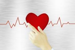 Heart on hand fly Stock Photo