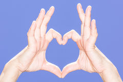 Heart hand Royalty Free Stock Photos