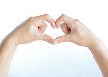 Heart hand Royalty Free Stock Photos