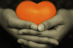 Heart in hand 5. This symbol of love and valentine's day royalty free stock photography