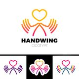 Heart in hand symbol, sign, icon, logo template for charity, health, voluntary, non profit organization, isolated on white backgro. Und,  illustration Royalty Free Stock Images