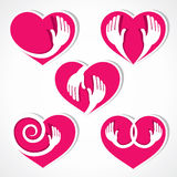 Heart and hand symbol Stock Photography
