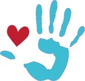 Heart & Hand Royalty Free Stock Image