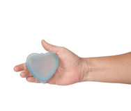 Heart on hand in Valentine day Royalty Free Stock Photos