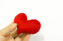 Heart in the hand, valentines day concept.  royalty free stock image