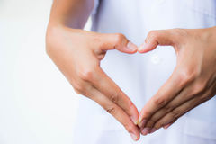 Heart hand Royalty Free Stock Photography