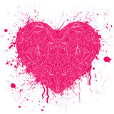 heart with handdrawn pattern Royalty Free Stock Images
