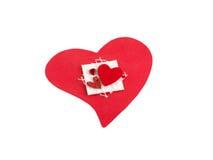 Heart handmade. Red heart handmade on white background Stock Photos
