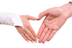 Heart from hands Royalty Free Stock Image