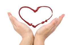Heart and hands Royalty Free Stock Image