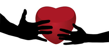 Heart and hands Stock Photo