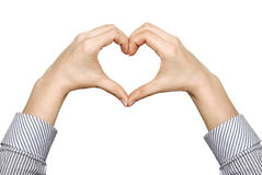Heart from hands Royalty Free Stock Images
