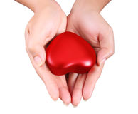 Heart in a hands Royalty Free Stock Images