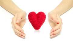 Heart in hands Royalty Free Stock Images